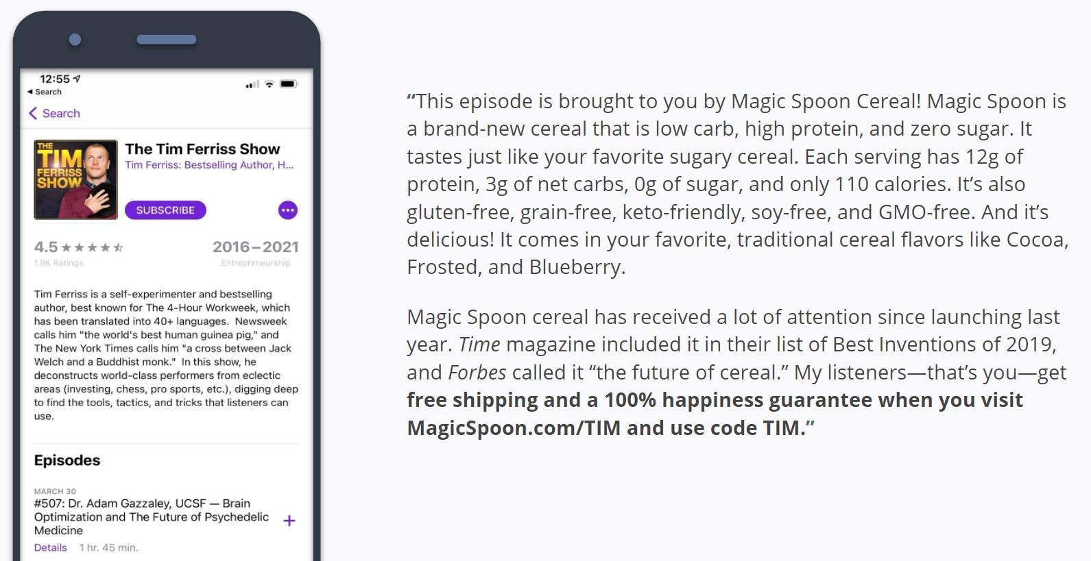 Magic Spoon - Podcast Affiliate Code