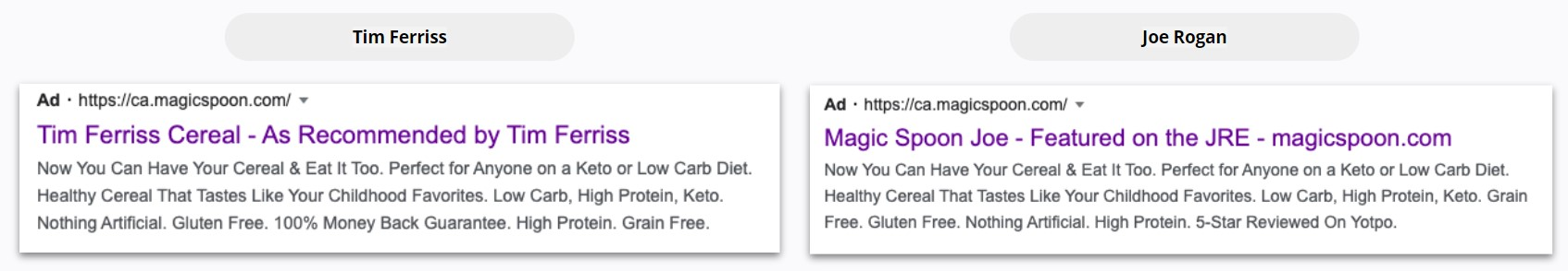 Magic Spoon - Search Ads