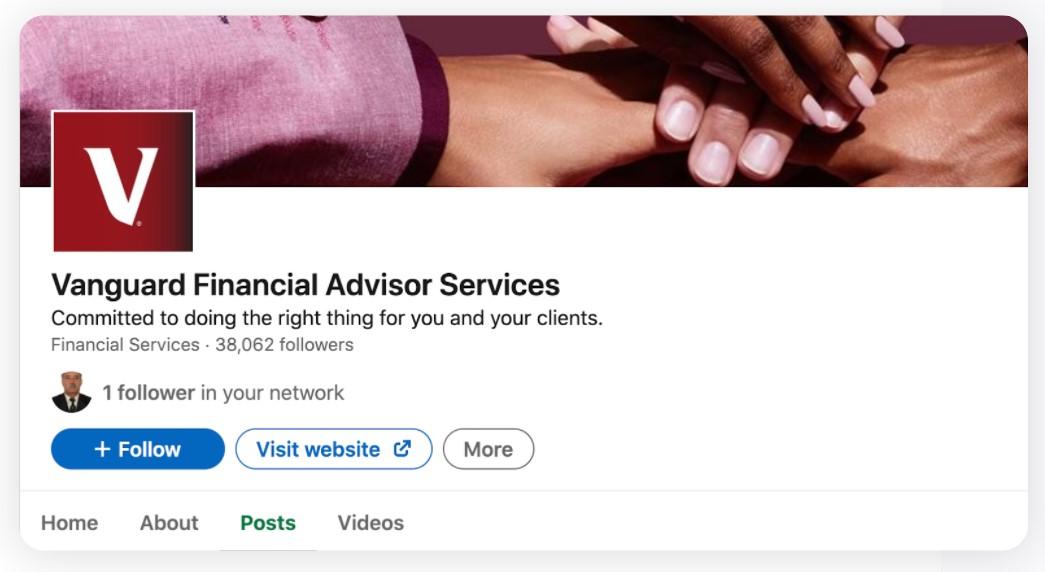 Vanguard - Linkedin Page