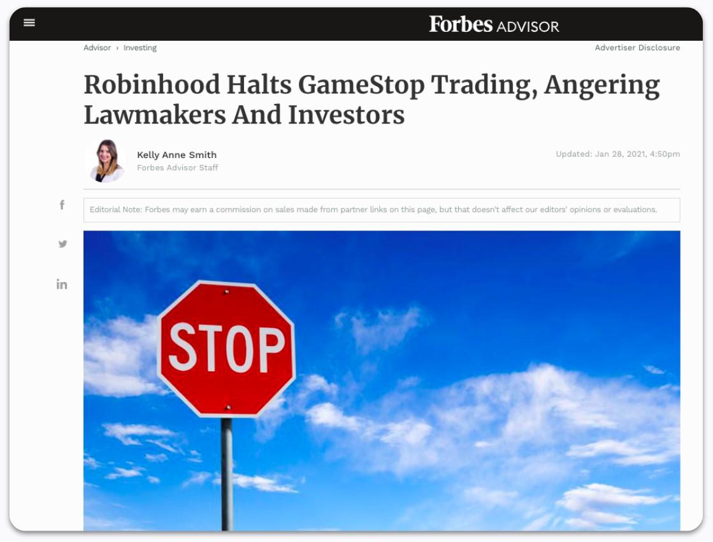 Robinhood Halts GameStop Trading, Angering Lawmakers and Investors