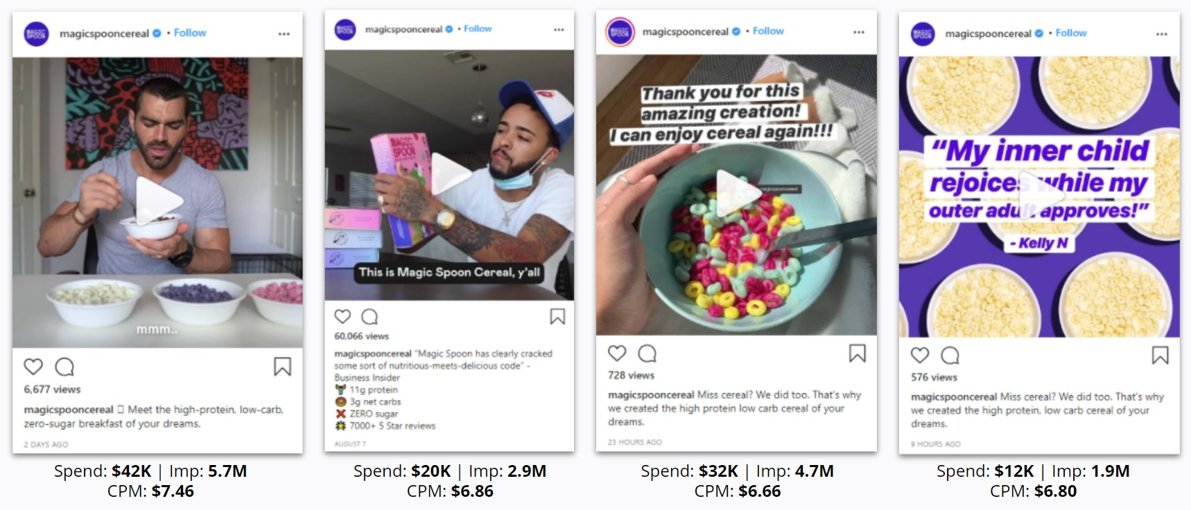 Magic Spoon - Top Instagram Ads
