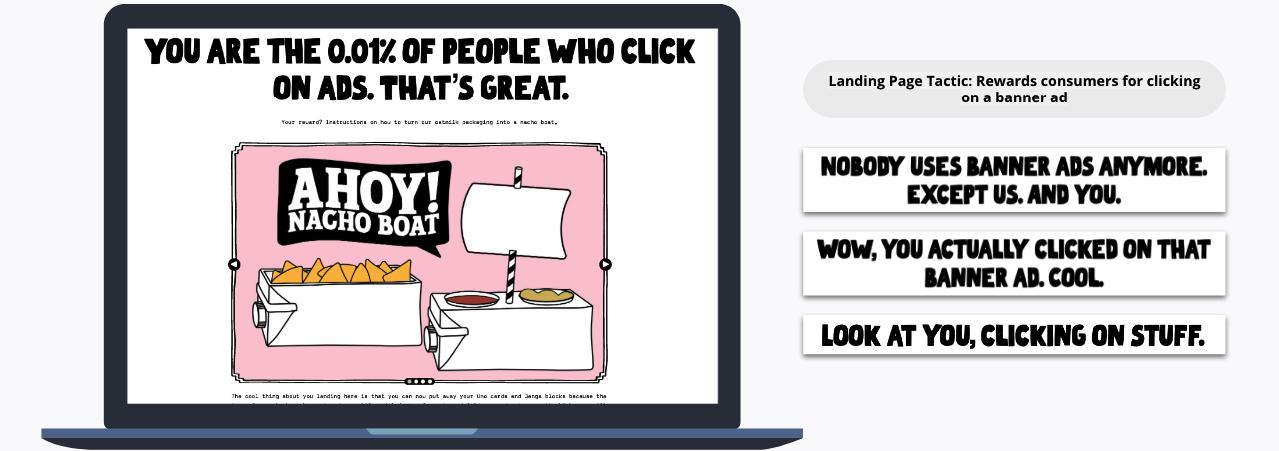 Rewards consumer for clicking