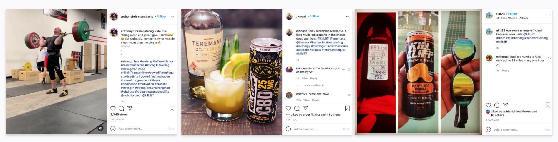 Kill Cliff - Instagram - Branded Hashtags