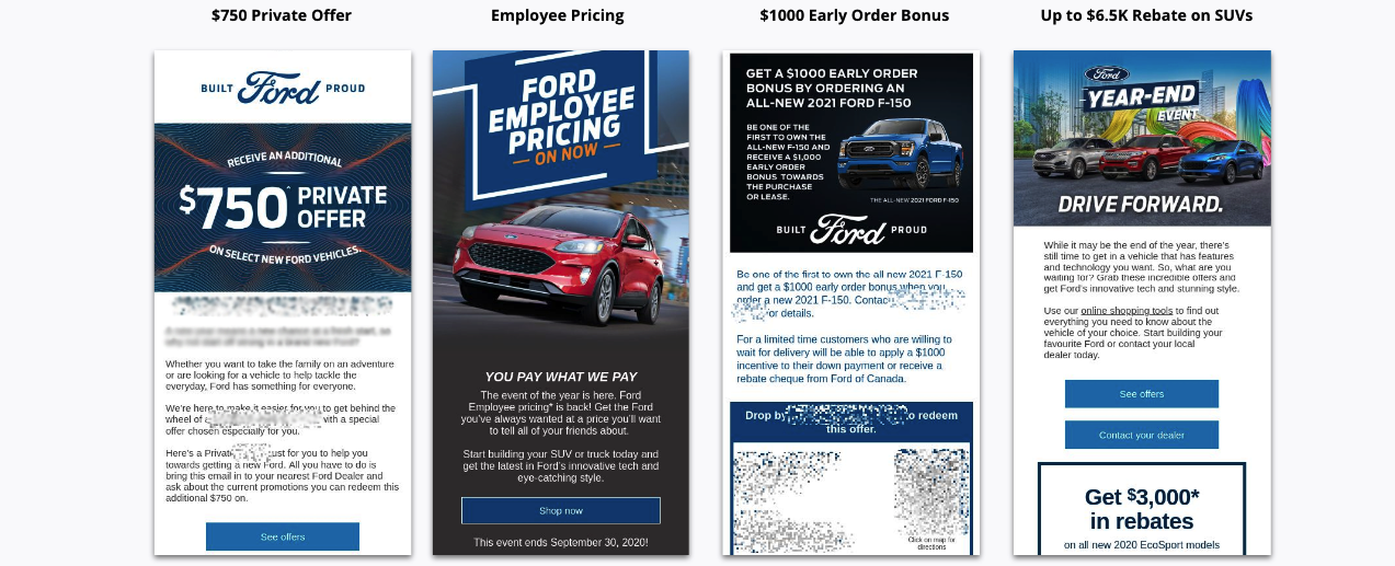 Four Email Promotion