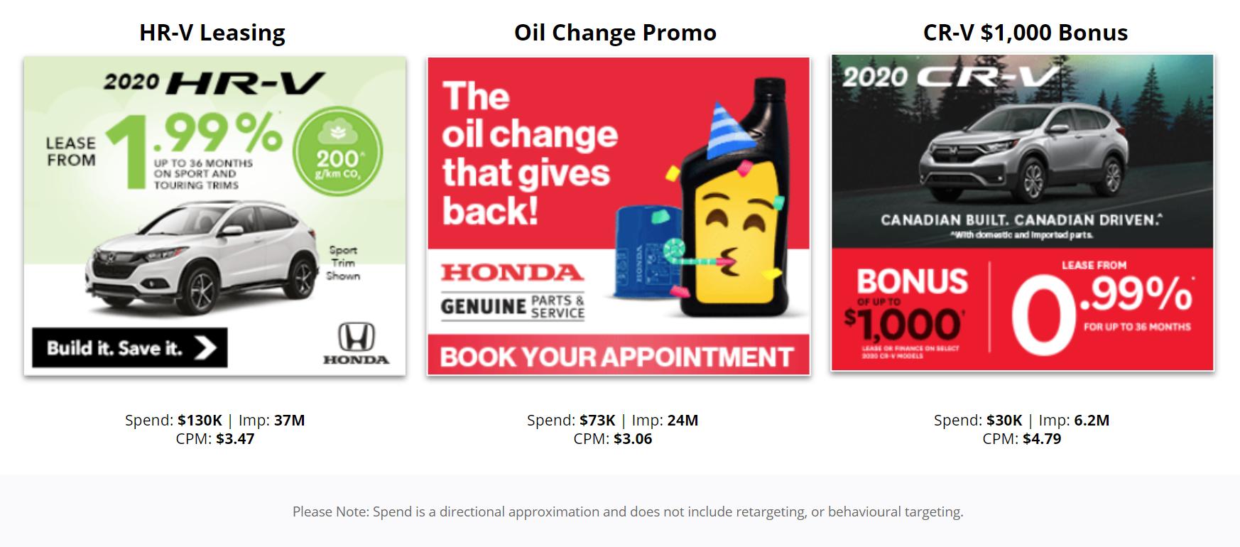 Honda Canada - Top Display Advertising