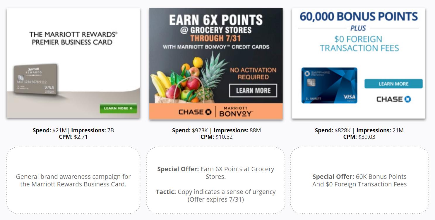 J.P. Morgan - Top Display Ads - Business Card & Consumer Card