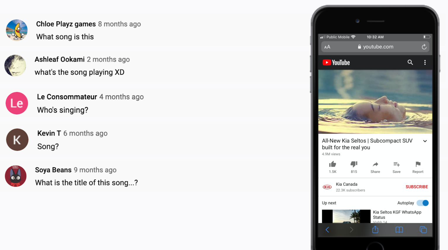 KIA - YouTube Advertisement - Billie Eilish - VIewers asking about the track used in the video