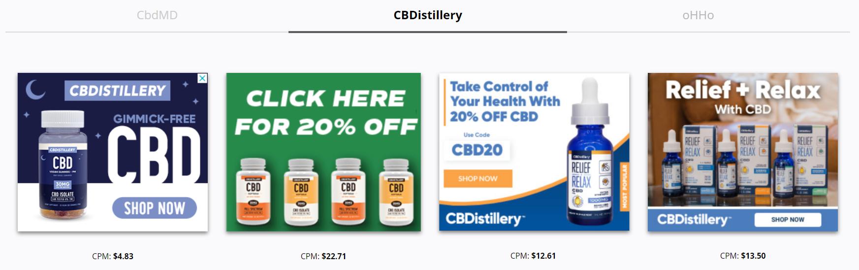 CBDistillery - Shop Now CTA