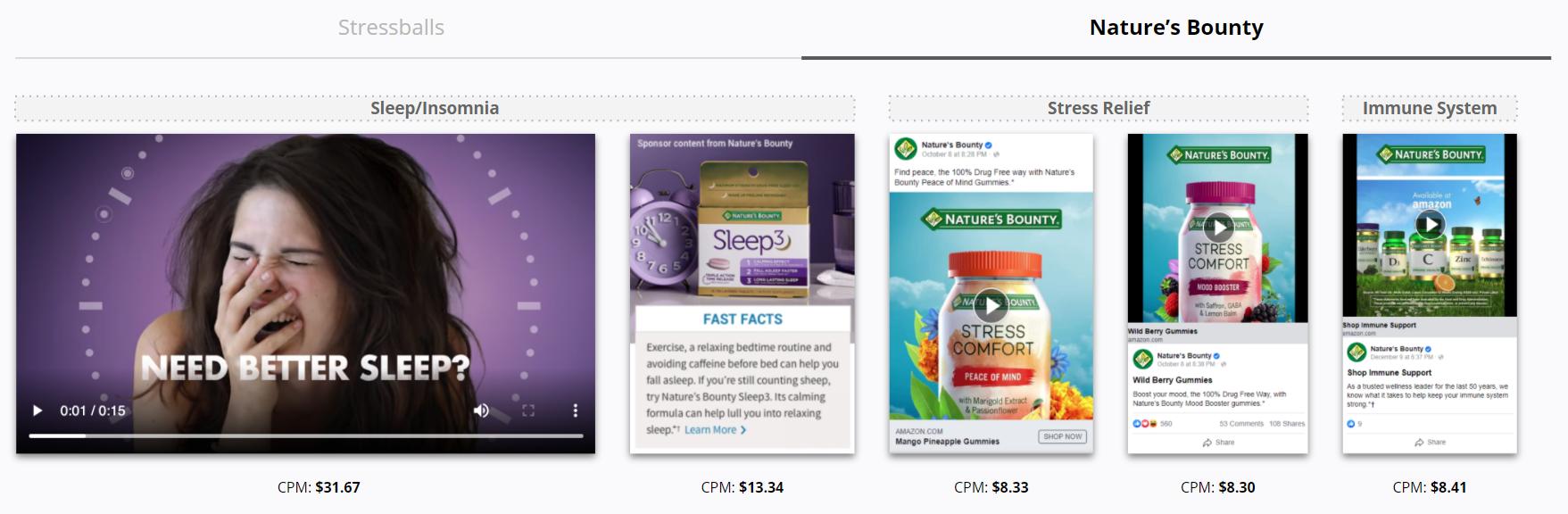 Nature's Bounty - Seasonal Ads - Sleep Insomnia - Stress Relief - Immune System