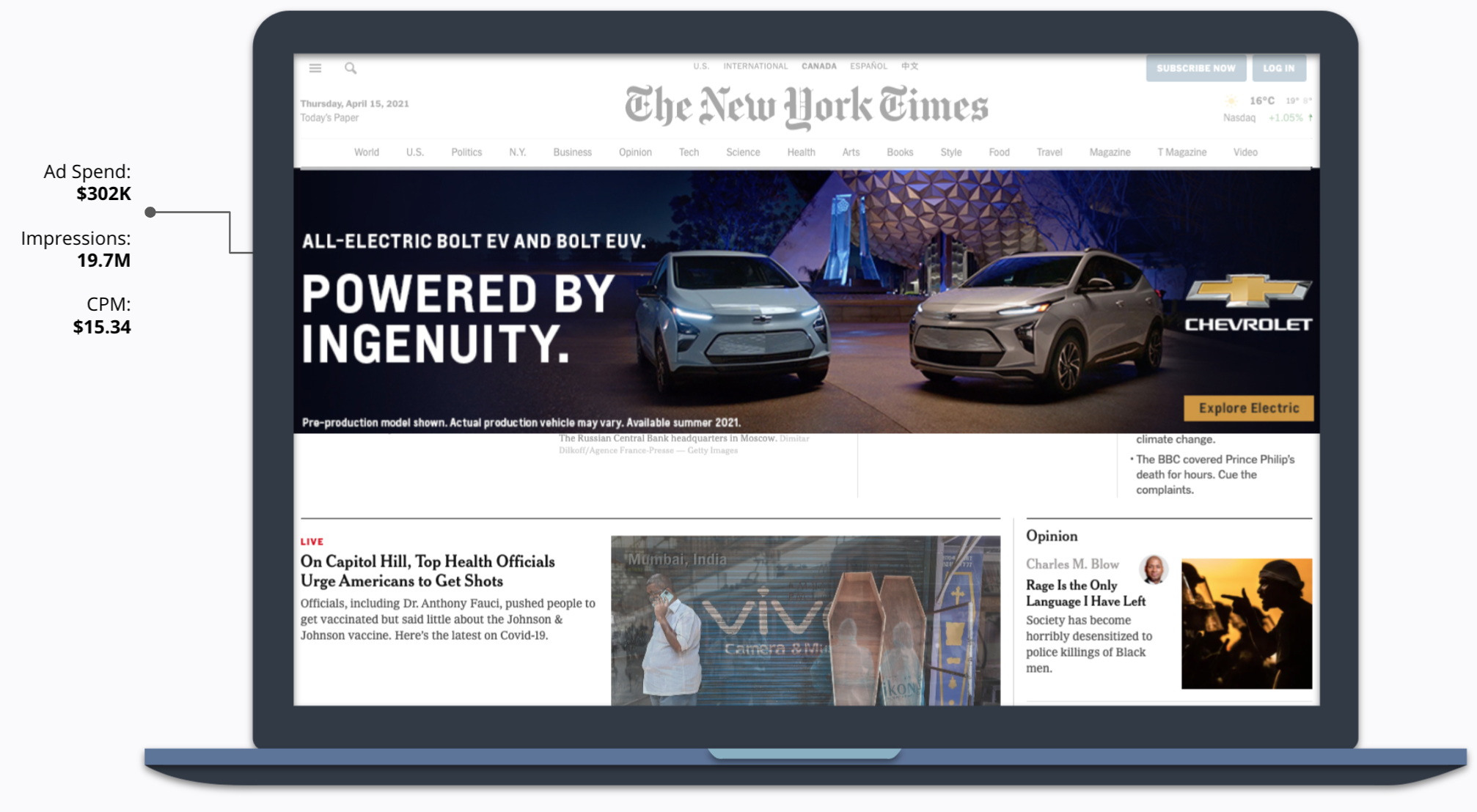 How Chevrolet Partnered with Disney –Powered by Ingenuity Ad in New York Times