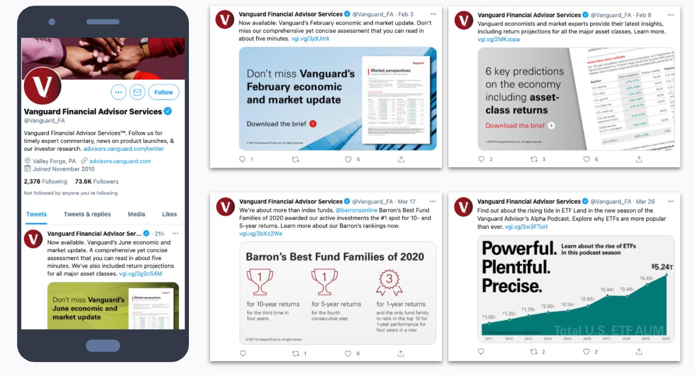Vanguard Financial Advisor Twitter Account