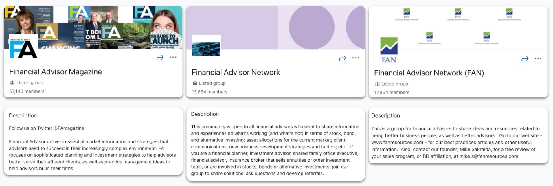 Linkedin - Financial Advisor Magazine