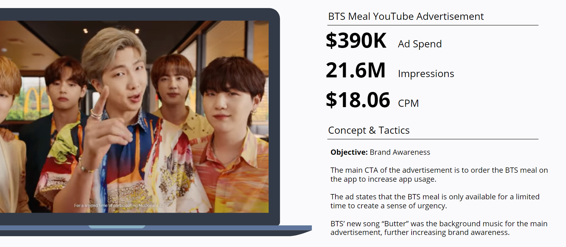 BTS - McDonalds - BTS Meal YouTube Advertisement