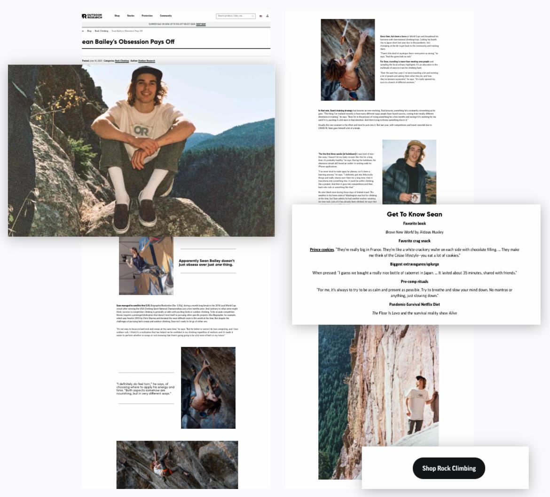 Outdoor Research - Editorial-Syle Content
