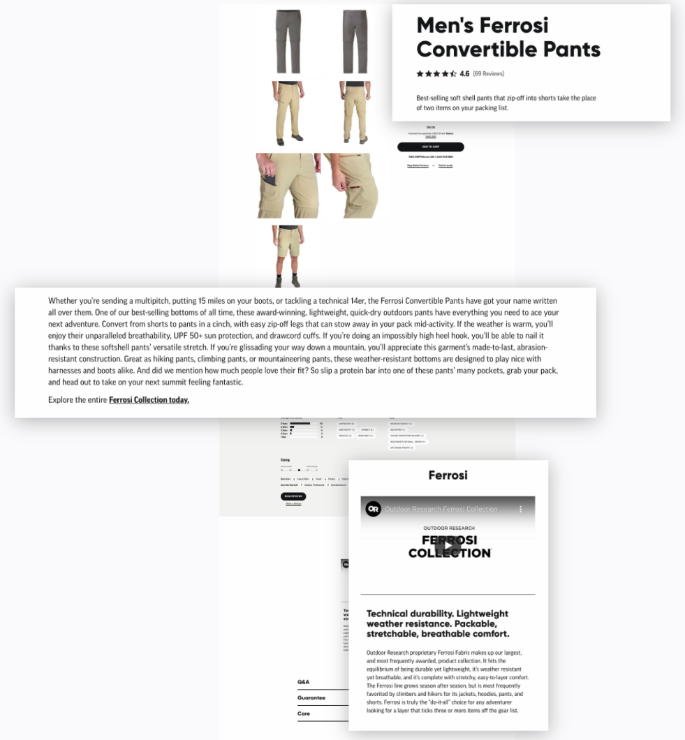 Outdoor Research - Product Detail Page