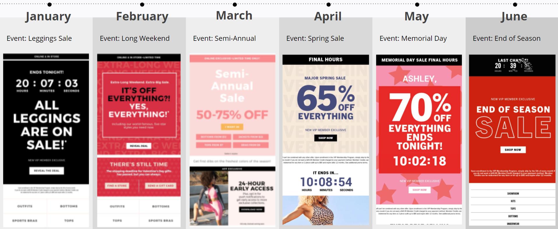 Fabletics - Sale Emails