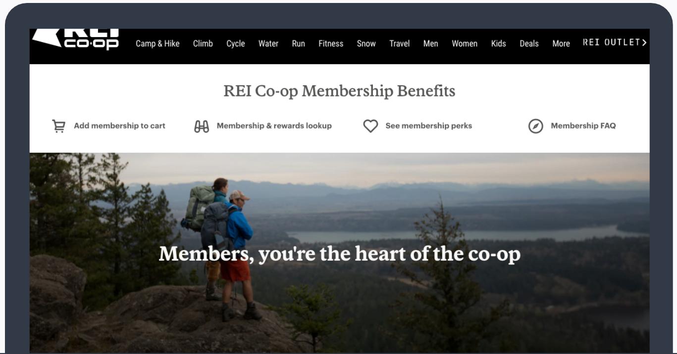 REI Co-Op Membership Benefits