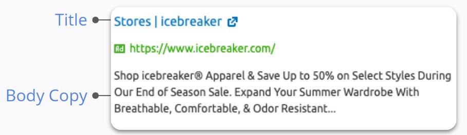 Ice Breaker - Google Search Ad Copy