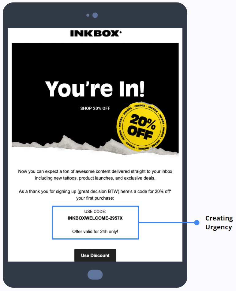 Inkbox - Rewards Sign Up Email