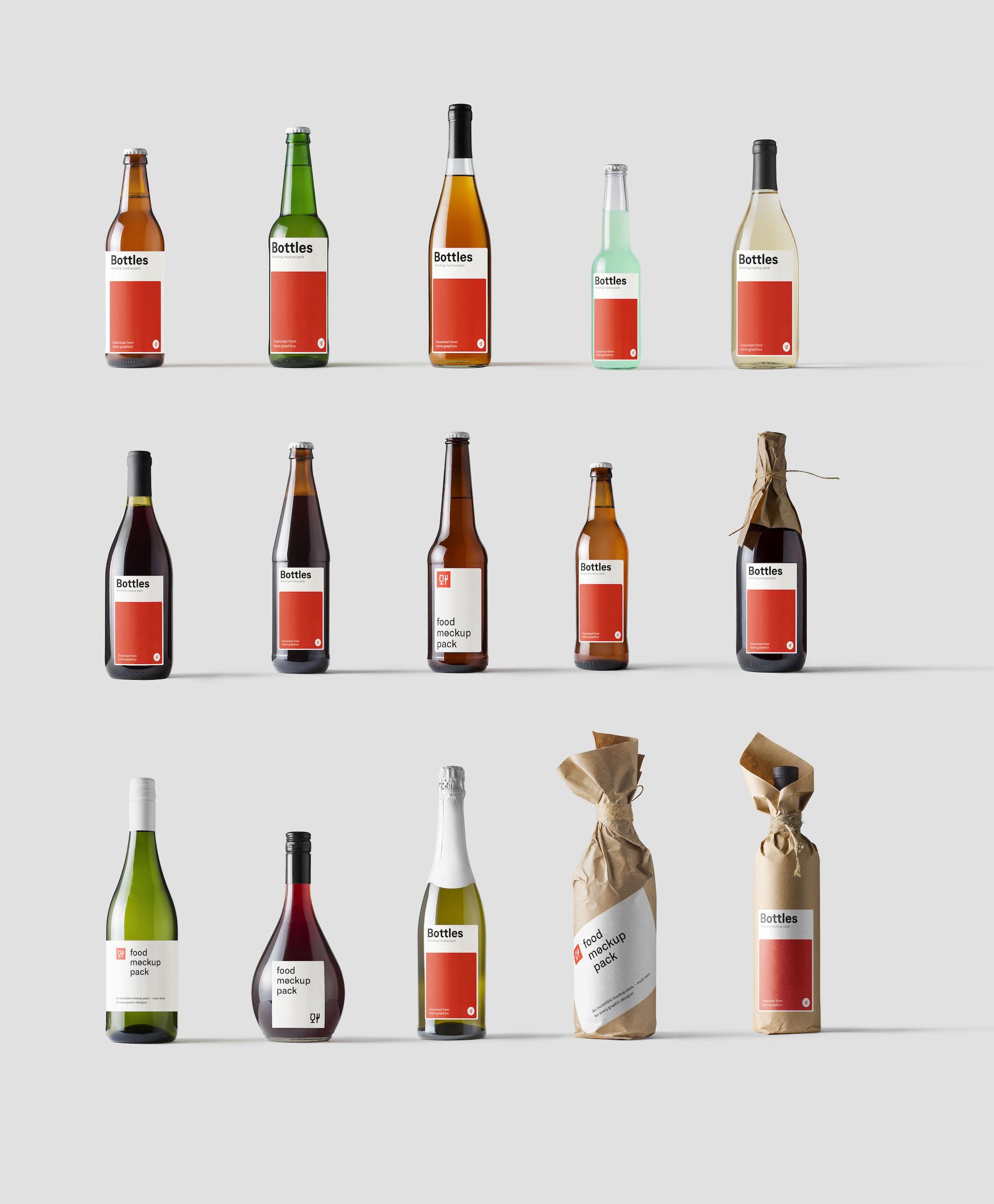 Bottles Mockups for Photoshop