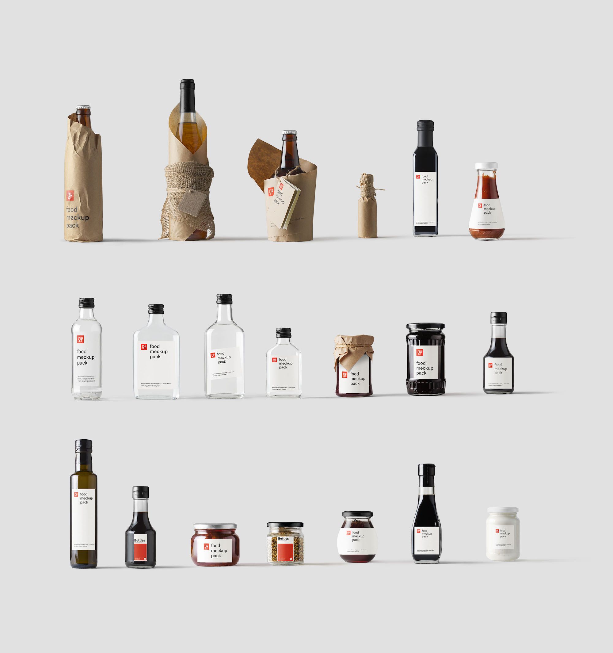 Bottles Mockups for Photoshop