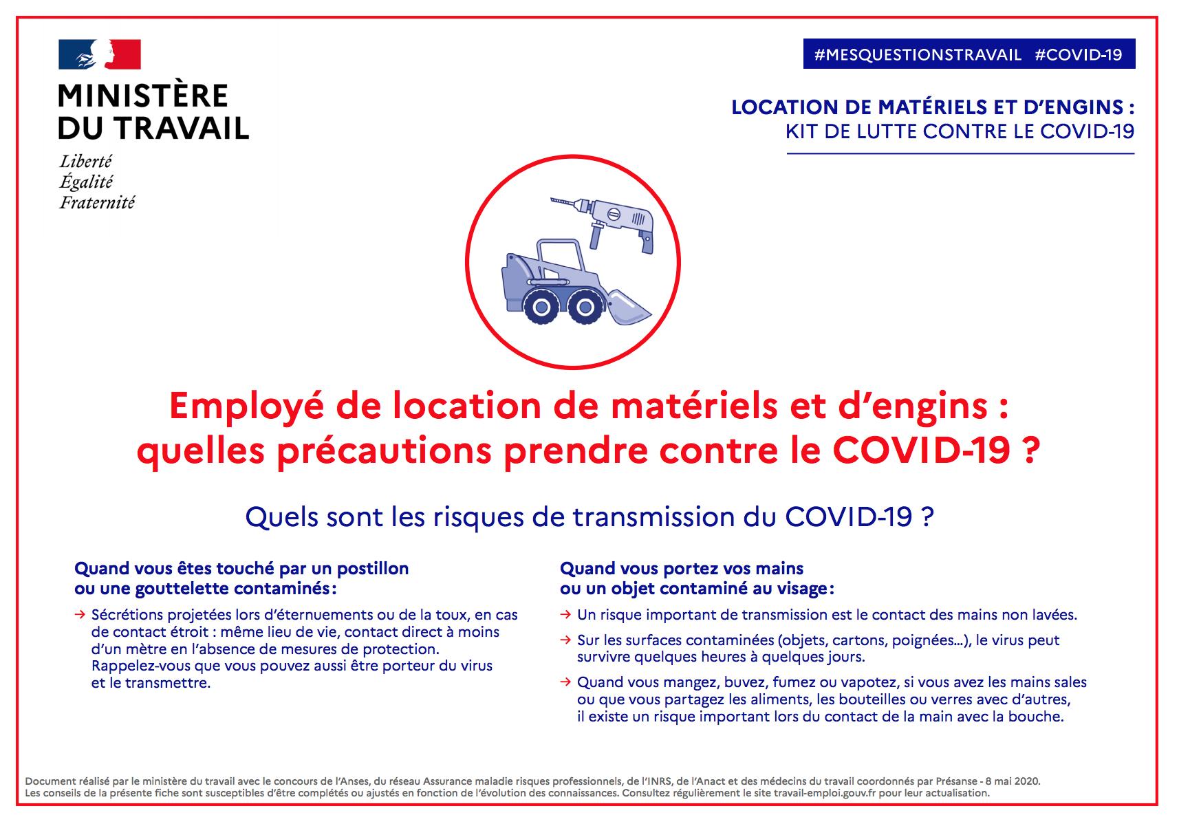 Document Gouvernemental Location De matériel et d'engins