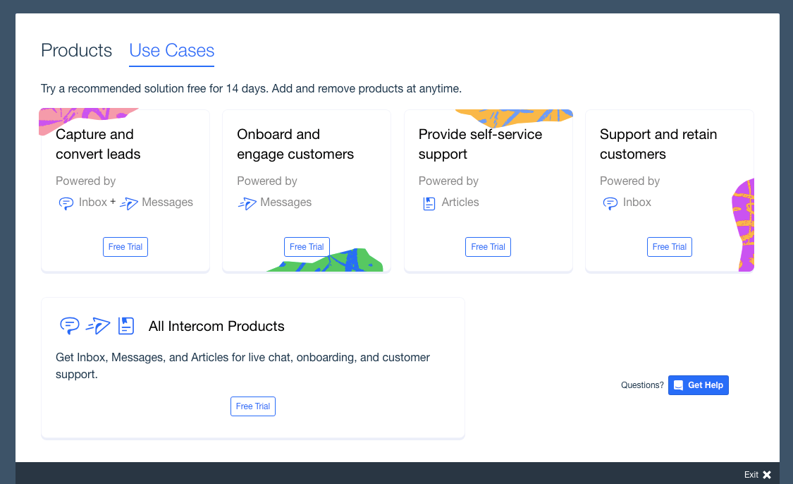 intercom customer onboarding