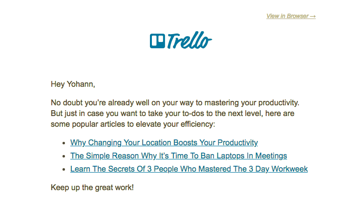 trello customer onboarding