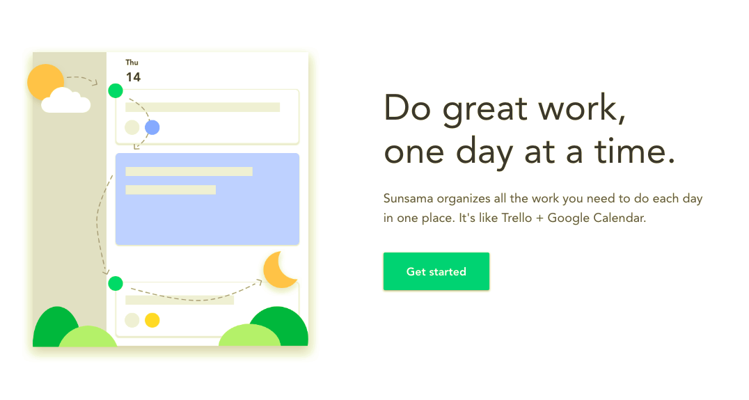 sunsama promise user onboarding