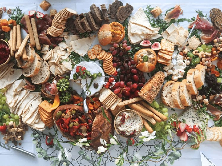 afternoon tea catering ideas - a grazing table spread