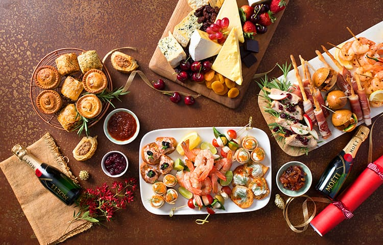 Christmas finger food catering