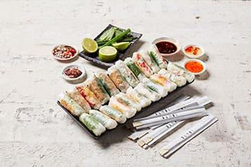 Vietnamese catering – rice paper rolls