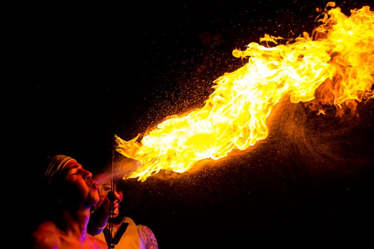 corporate event entertainment - fire breather
