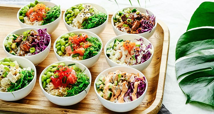 melbourne corporate catering trends - healthy catering with poke bowls