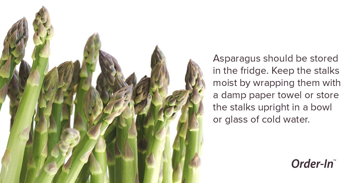 reduce food waste - how to store asparagus