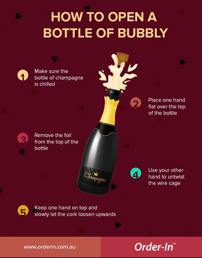 How to pop a bottle of Champagne