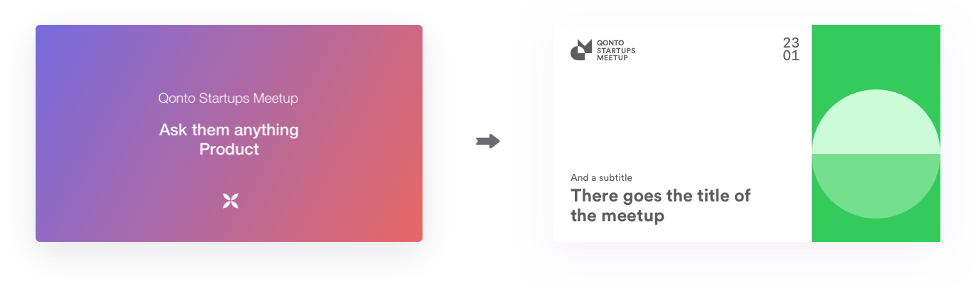 Evolution of the design