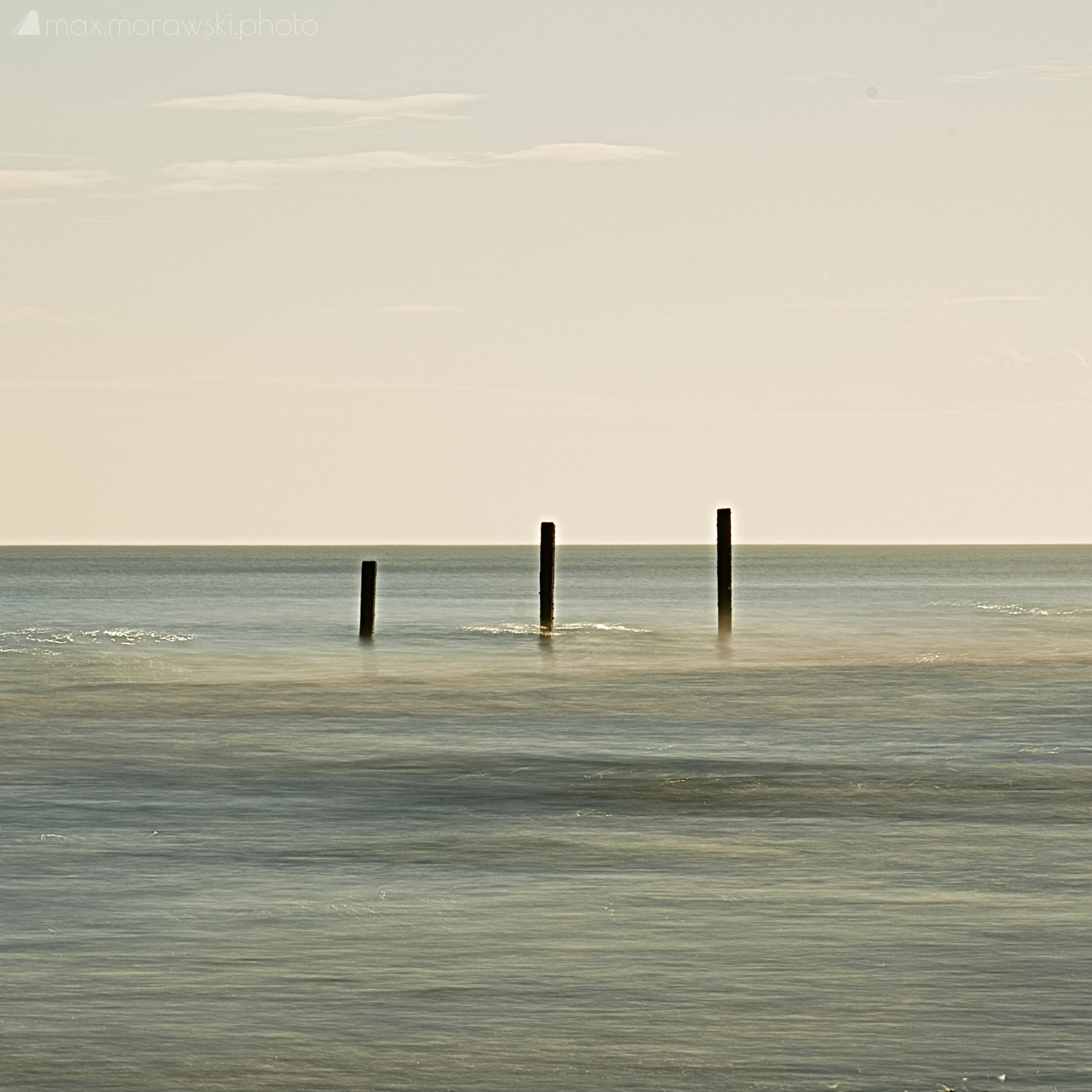 Three strokes on a canvas of sea