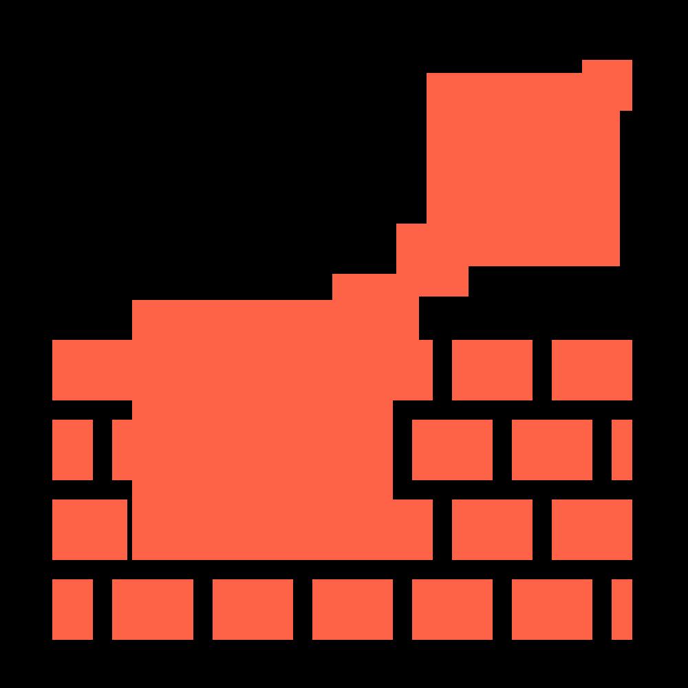 Icon de brique rouge