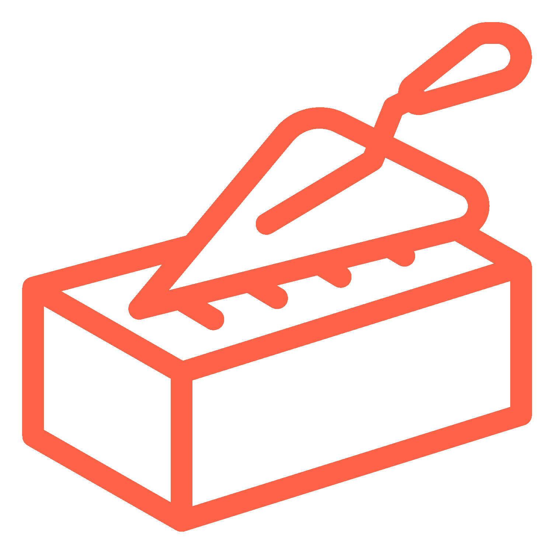 Icon d'une brique rouge