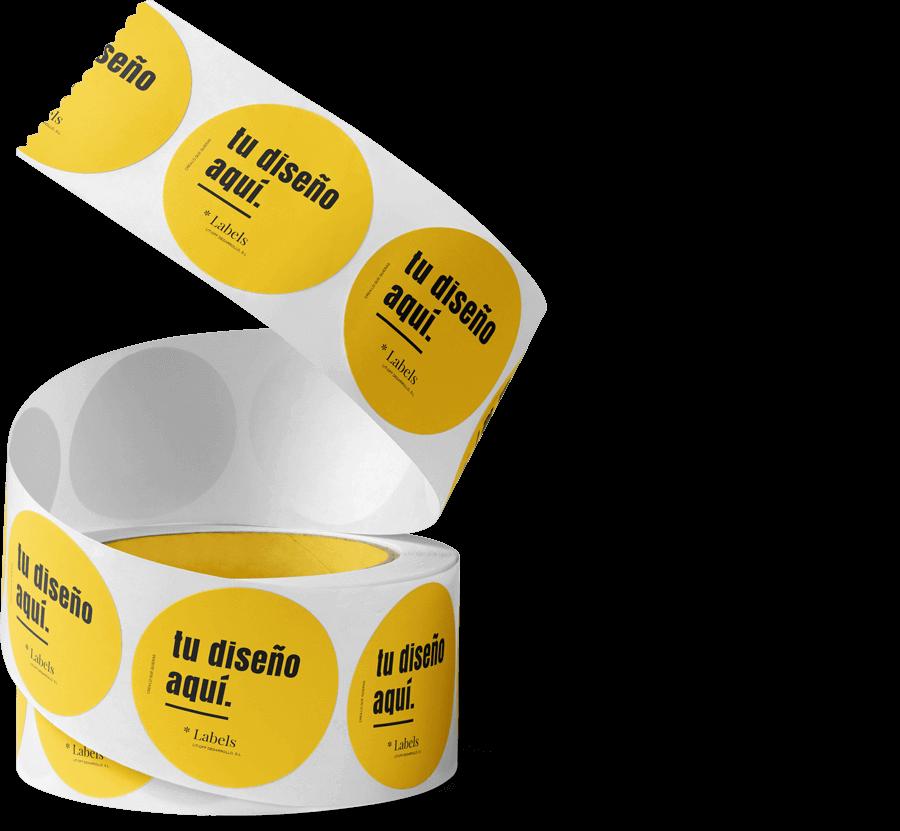 Rollo etiquetas adhesivas