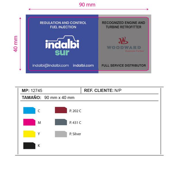 Etiquetas adhesivas para superficies rugosas