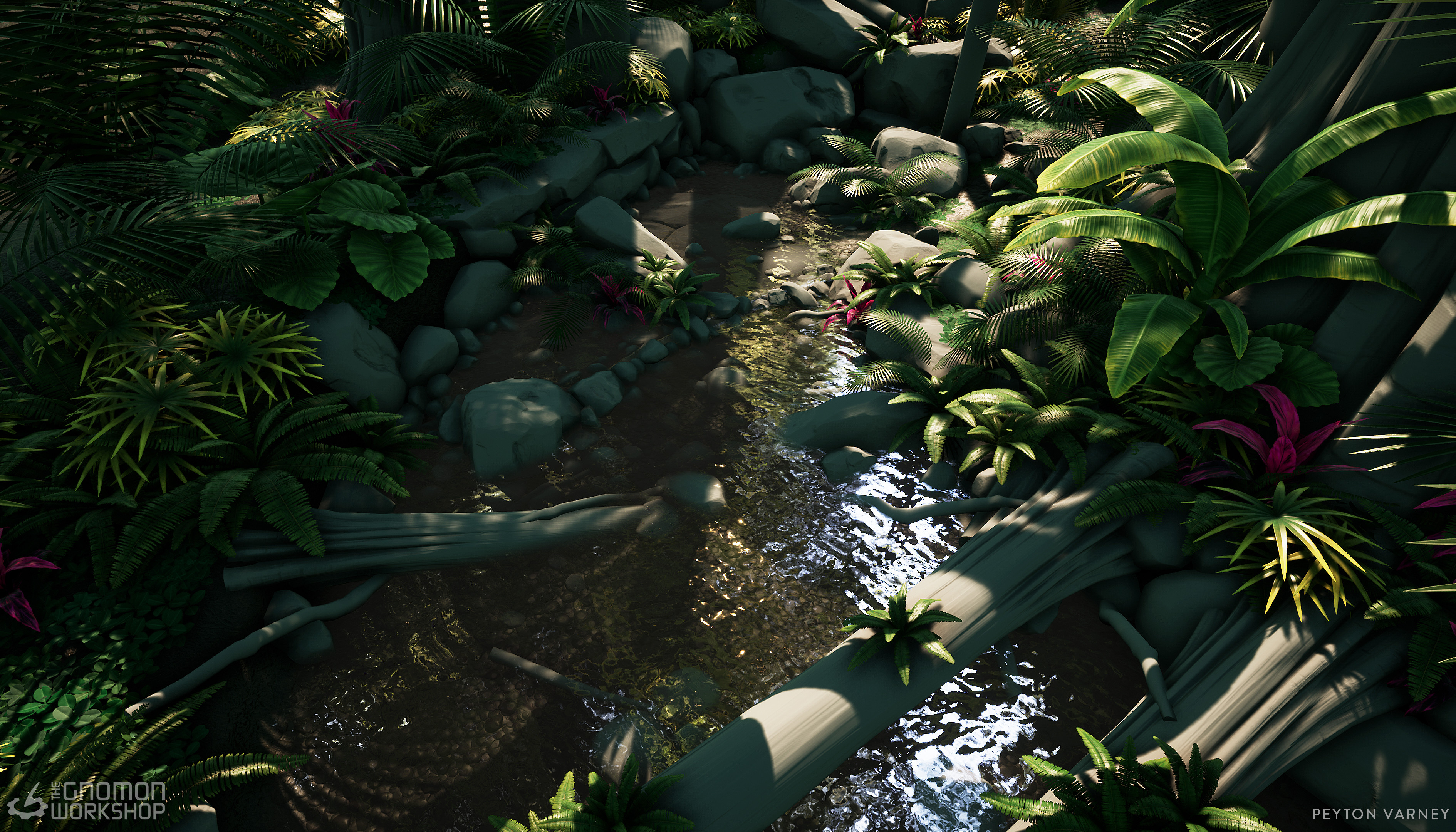 Introduction to Creating Game-Ready Foliage | The Gnomon Workshop -