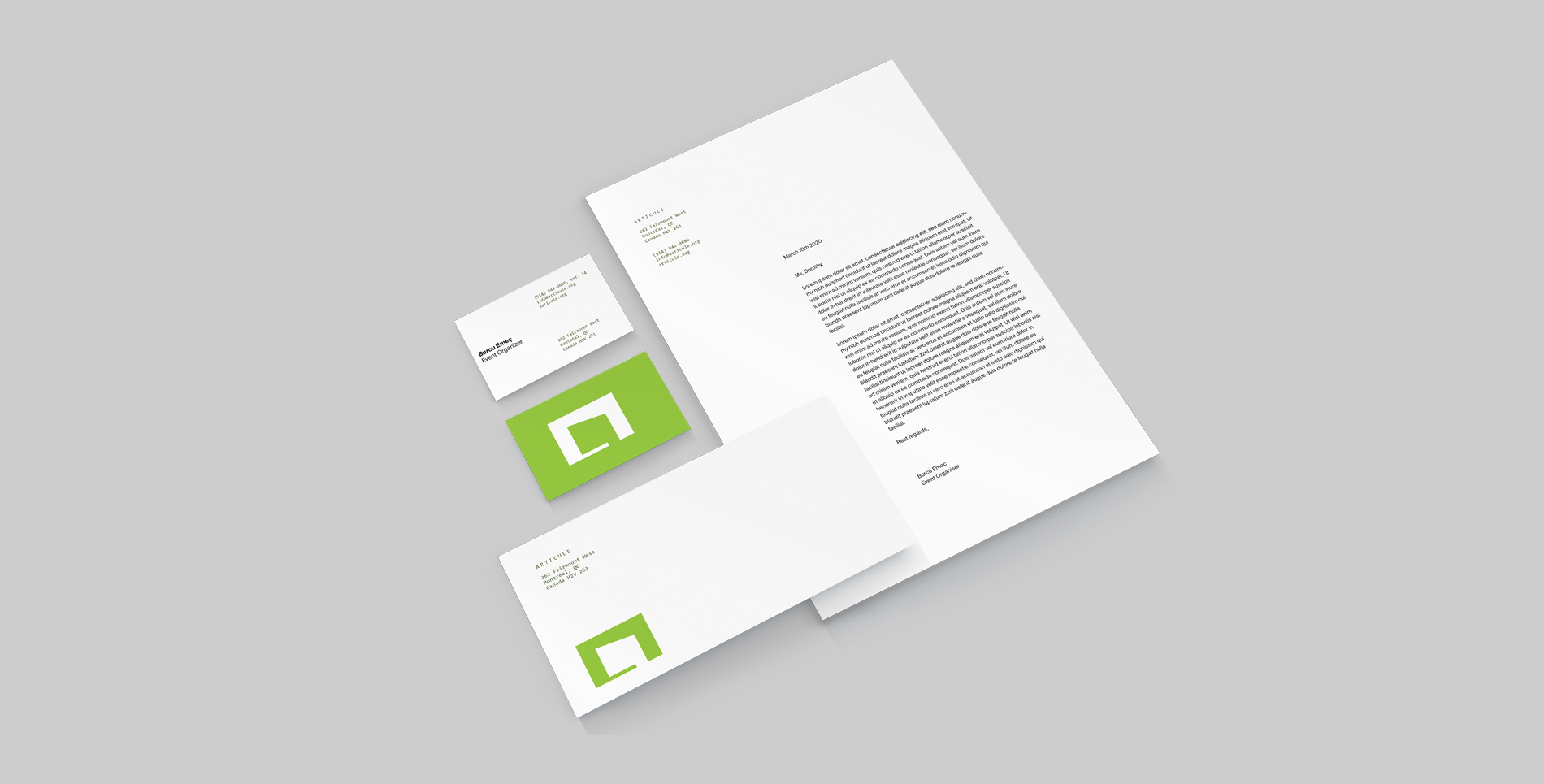 Articule stationery