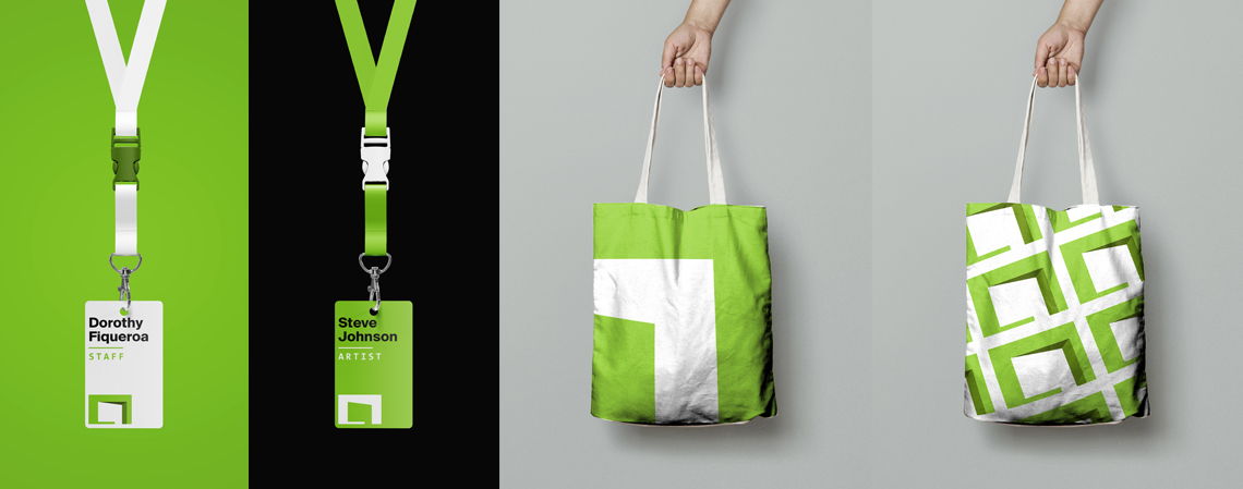 Articule badges and tote bags