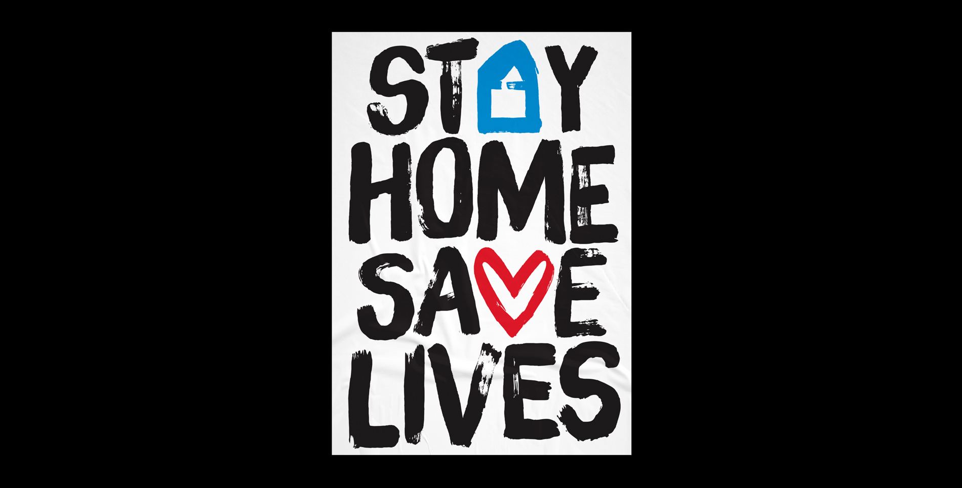 Stay Home Save Lives poster with texture