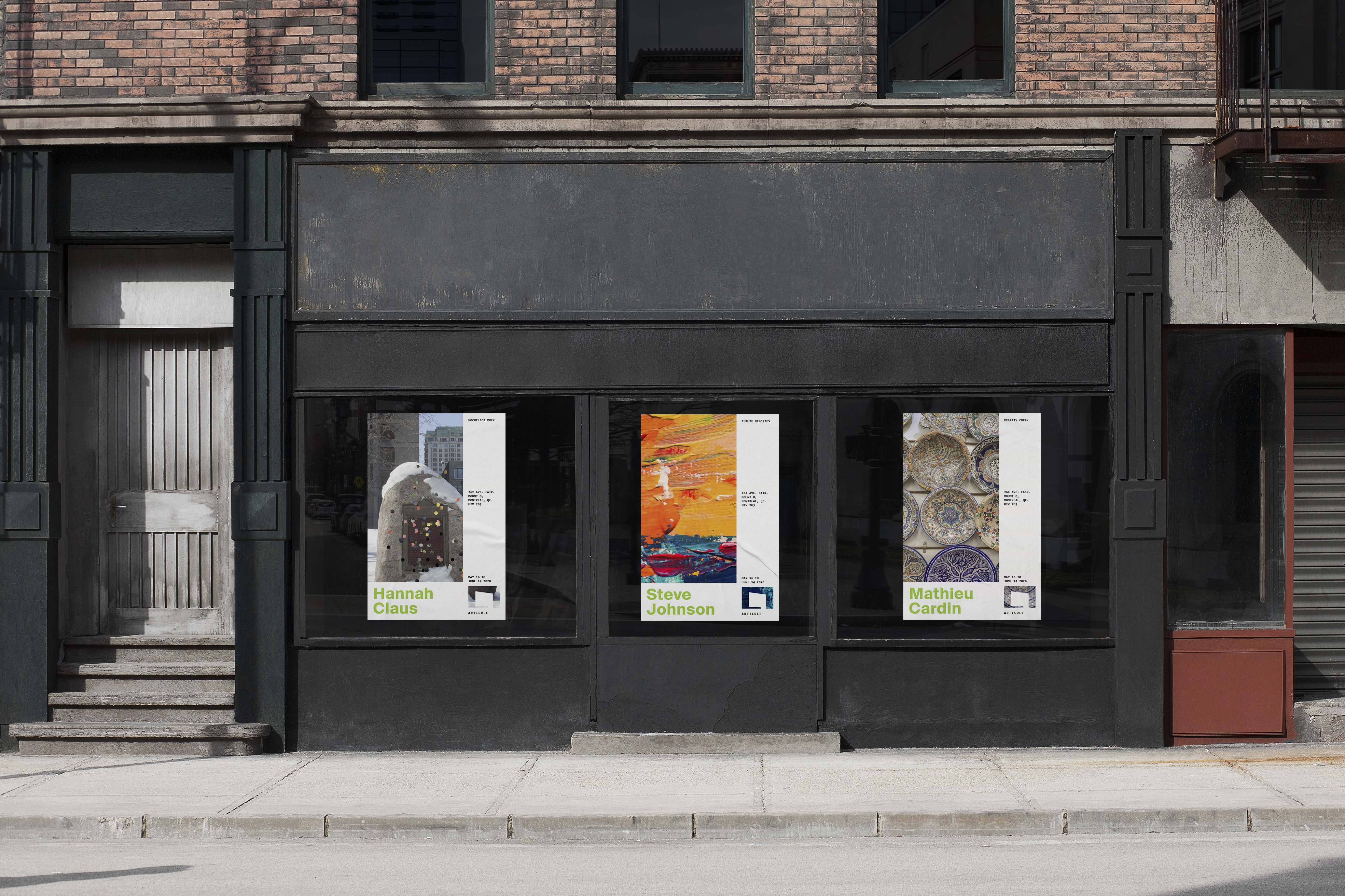 Articule advertisement posters