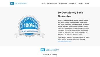 ML UX Academy 30 day money back guarantee thumbnail