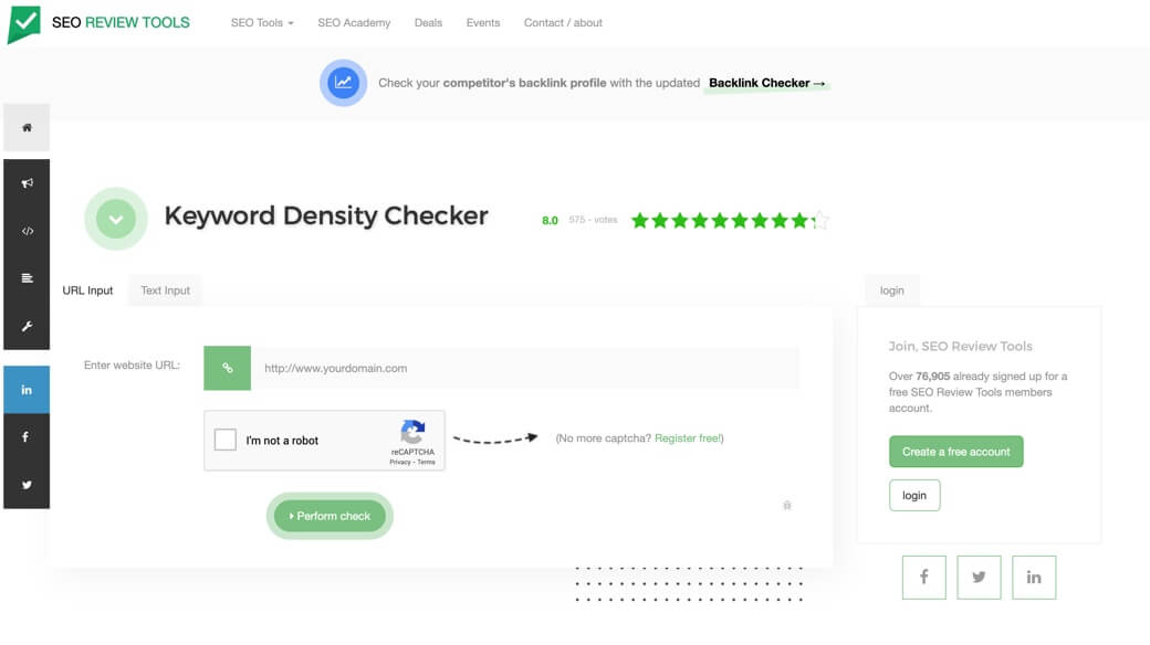 Keyword Density Checker