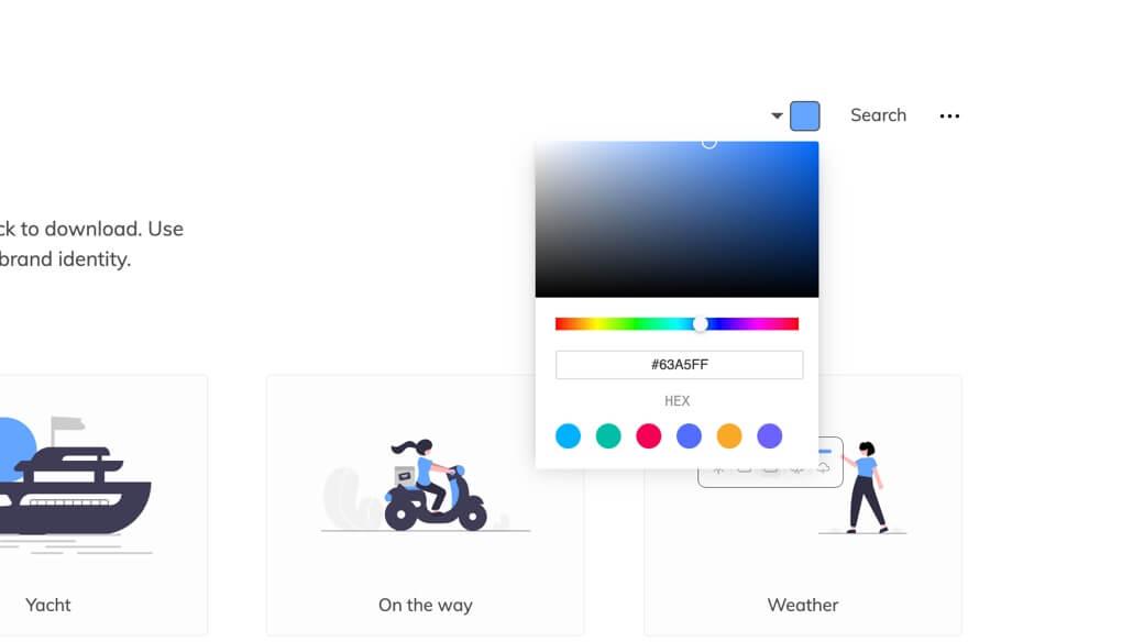 Pick illustration colour